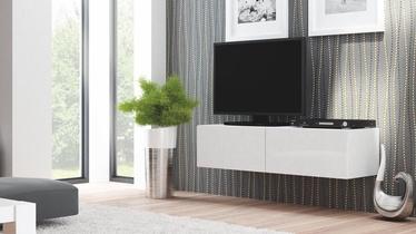 TV-alus Livo RTV 160W, valge, 160 x 40 x 30 cm