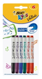 BIC Kids Velleda Mini Marker For Whiteboard 6pcs
