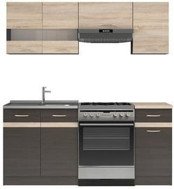 Köögikomplekt Black Red White Junona, 1.8 m