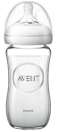 Philips Avent Natural Glass Bottle 240ml SCF 053/17