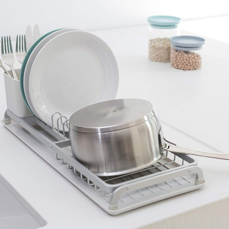 Brabantia 117282 Compact Dish Drying Rack Light Grey