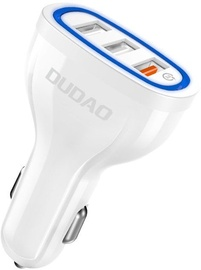 Dudao R7S QC3.0 3x USB Car Charger White