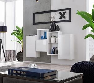 ASM Blox SB III Hanging Cabinet Set White