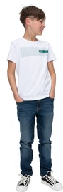 Audimas Junior Cotton Printed Tee White 152