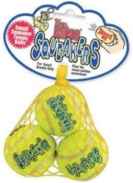 Kong Air Kong Squeaker Tennis Ball Medium 3pcs