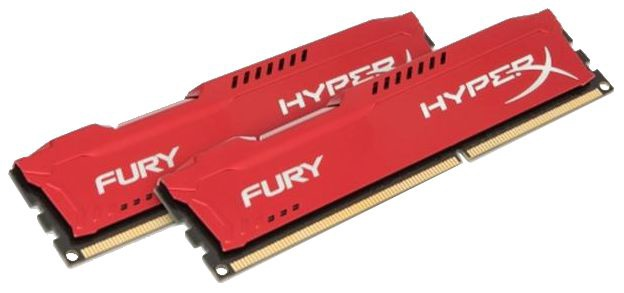 Kingston 16GB DDR3 PC12800 CL10 DIMM HyperX Fury Red Series KIT OF 2 HX316C10FRK2/16