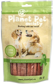 Planet Pet Society Lamb Strips 80g