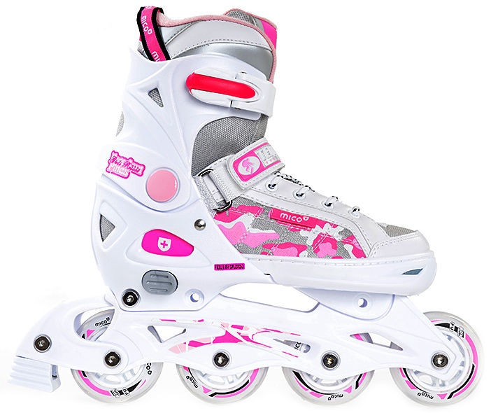 Rulluisud Mico Plus Princess 2in1 White/Pink, 37-40