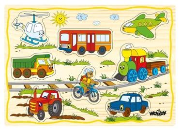Pusle Woodyland Educational Color Set Vehicles 90252, 12 tk