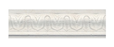 Kerama Marazzi Laurito Edging Tiles BAC001 White 75x250mm