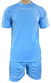 Givova Sports Wear Kit MC Baby Blue XS