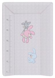 Ceba Baby Hard Changing Mat With A Bolster 50x70cm Bunnies Grey
