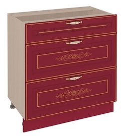 DaVita Viktorija 20.67 Kitchen Bottom Cabinet Astrid Pine/Bordeaux