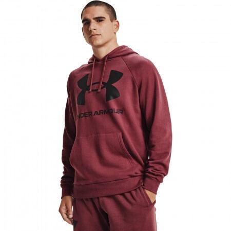Under Armour Men's Rival Fleece Big Logo Hoodie 1357093 652 Red S