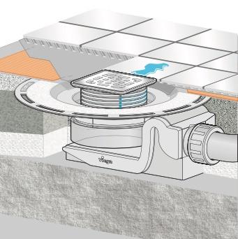 Põrandatrapp Viega 557119, 100 x 100 mm, D40/50mm