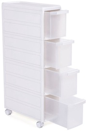 Songmics Storage Rack White 18x46x84.5cm