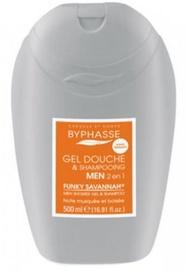 Dušigeel Byphasse Men Shower Gel-shampoo 2 In 1 Funky Savannah, 500 ml