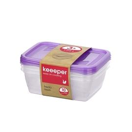 Hermeetiliste karpide komplekt, Keeeper, 1,25 l, 3 tk