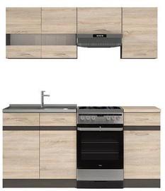 Köögikomplekt Black Red White Junona, 1.7 m
