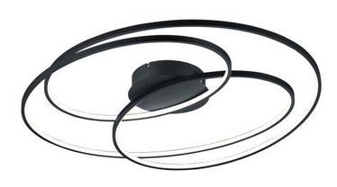 Светодиодный потолочный светильник Trio Gale Matte Black, диаметр 80 см, 50 Вт, 5250 лм, 3000 К, функция трехступенчатого переключения яркости