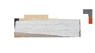 SN PVC Skirting Board SG75I4 2200x75x24.5mm Grey Oak