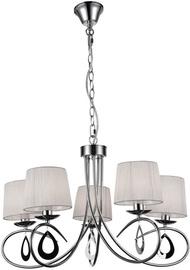 Candellux Arnika Hanging Ceiling Lamp 5X40W E14 Chrome /White