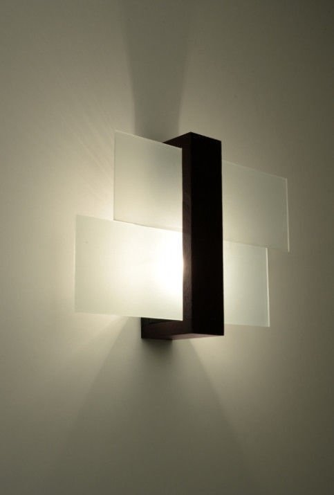 Sollux Feniks Wall Lamp 60W E27 Dark Brown