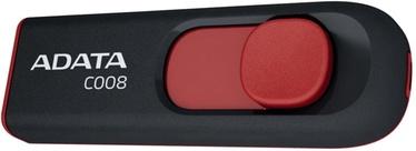 USB mälupulk ADATA C008 Black/Red, USB 2.0, 16 GB