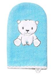 Laste pesukäsn BabyOno Bath Washer Natural Bamboo Blue