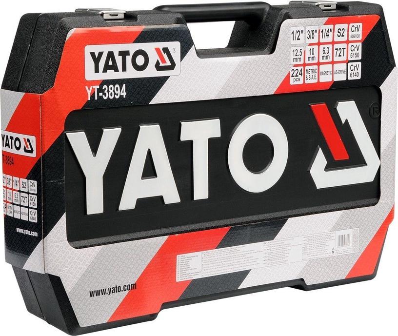 Yato YT-38941 Tool Set 1/4'' 1/2'' 3/8'' 224pcs