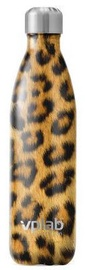 VPLab Steel Thermal Bottle 500ml Leopard