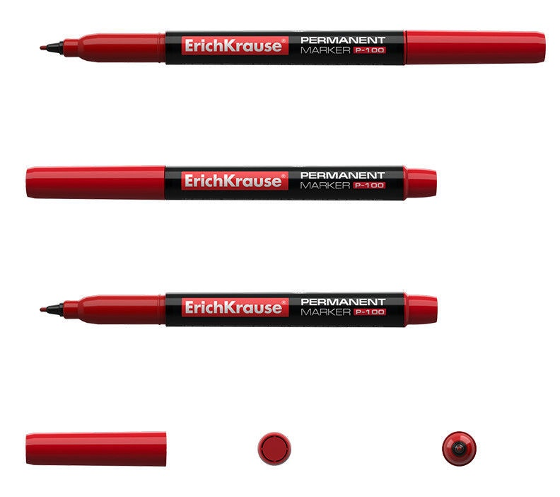 ErichKrause Permanent Marker P-100 Red