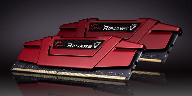 G.SKILL RipJawsV Red 16GB 3200MHz CL15 DDR4 KIT OF 2 F4-3200C15D-16GVR