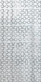 Spirella Grid Shower Curtain 180x200cm Silver