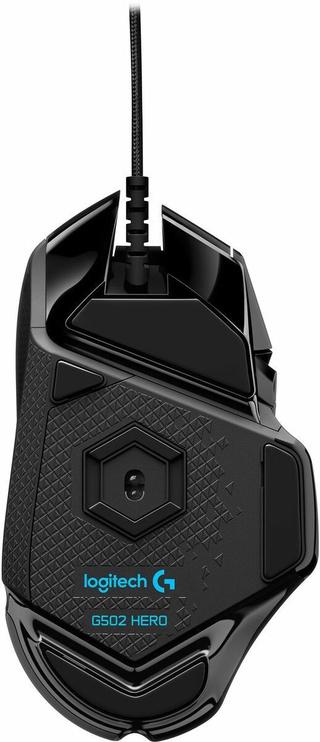 Mänguhiir Logitech G502 Hero Black, juhtmega, optiline