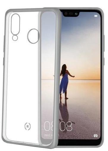 Celly Laser Matt Back Case For Huawei P20 Lite Silver
