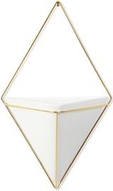 Umbra Trigg Large Wall Display White/Brass