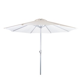 Home4you Bahama Parasol w/ Crank White/Silver