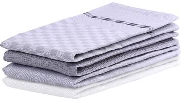 DecoKing Louie Kitchen Towel Set 50x70 Grey 3pcs