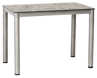 Обеденный стол Signal Meble Damar Gray, 800x600x750 мм