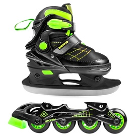 Spokey Doppio 2in1 Rollerblades 926660 Green 34-37