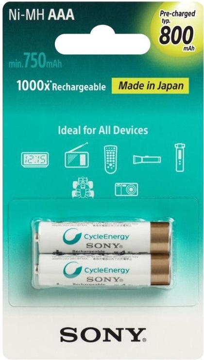Sony Cycle Energy Premium AAA 800mAh NH-AAAB2KN