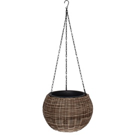 Home4you Wicker Hanging Flowerpot D32x22cm Beige