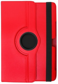 Etui Case With Rotated Stand For Samsung Galaxy Tab 3 7.0 Red