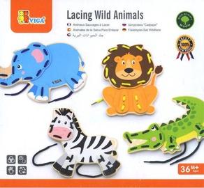 Viga Lacing Wild Animals 51326