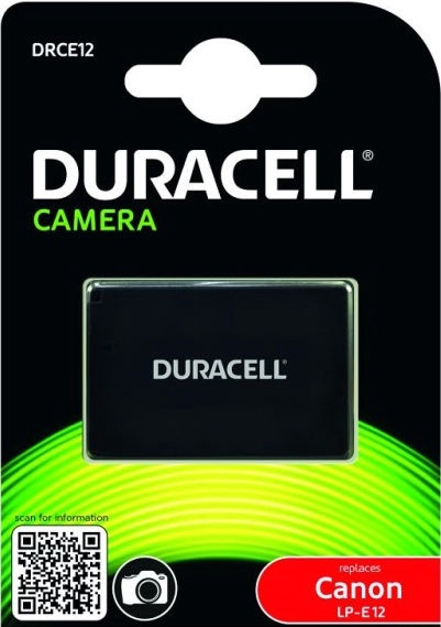 Duracell Premium Analog Canon LP-E12 Battery 600mAh