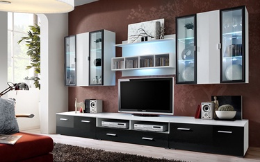 ASM Quadro Living Room Wall Unit Set White/Black
