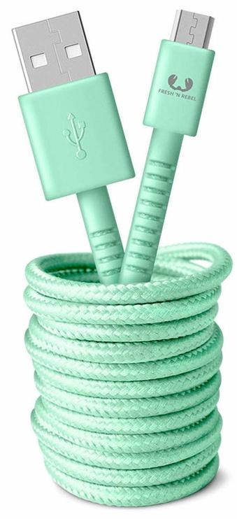 Fresh 'n Rebel Fabriq USB To Micro USB Cable 3m Peppermint