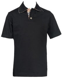 Bars Mens Polo Shirt Black 22 152cm