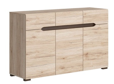 Комод Black Red White Elpasso 41x135cm San Remo Oak
